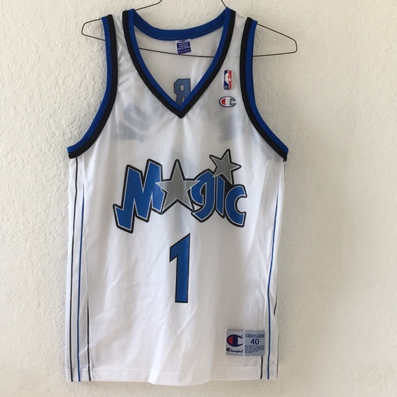 best loved dbb3f 0c130 Vintage Champion Orlando Magic Mcgrady Jersey 40 M